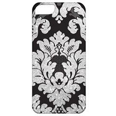 Diamond Bling Glitter on Damask Black Apple iPhone 5 Classic Hardshell Case