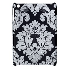 Diamond Bling Glitter On Damask Black Apple Ipad Mini Hardshell Case