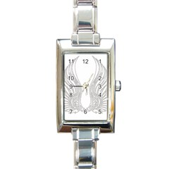 Angel Bling Wings Classic Elegant Ladies Watch (Rectangle)