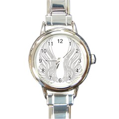 Angel Bling Wings Classic Elegant Ladies Watch (Round)