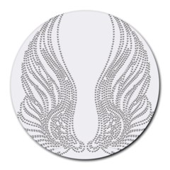 Angel Bling Wings 8  Mouse Pad (Round)