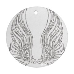 Angel Bling Wings Ceramic Ornament (Round)