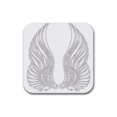 Angel Bling Wings Rubber Drinks Coaster (Square)