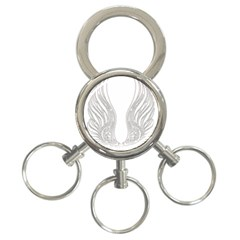 Angel Bling Wings 3-Ring Key Chain
