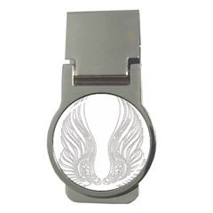 Angel Bling Wings Money Clip (Round)