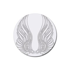 Angel Bling Wings Rubber Drinks Coaster (Round)