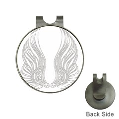 Angel Bling Wings Hat Clip with Golf Ball Marker