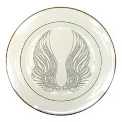 Angel Bling Wings Porcelain Display Plate