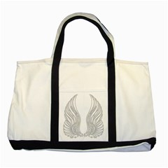 Angel Bling Wings Two Toned Tote Bag