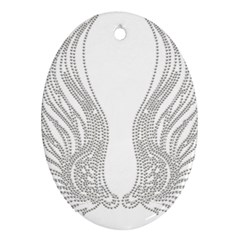 Angel Bling Wings Oval Ornament (Two Sides)
