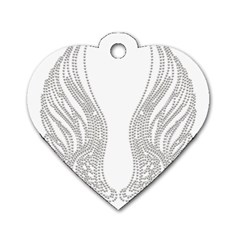 Angel Bling Wings Single-sided Dog Tag (Heart)