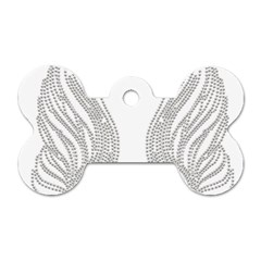 Angel Bling Wings Single-sided Dog Tag (Bone)