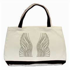 Angel Bling Wings Twin-sided Black Tote Bag