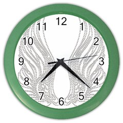 Angel Bling Wings Colored Wall Clock
