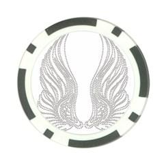 Angel Bling Wings Poker Chip