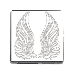 Angel Bling Wings Card Reader with Storage (Square)