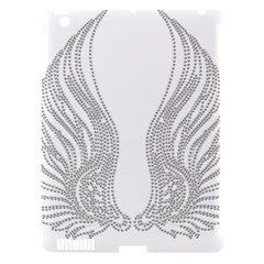 Angel Bling Wings Apple Ipad 3/4 Hardshell Case (compatible With Smart Cover)