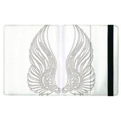 Angel Bling Wings Apple iPad 2 Flip Case