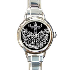 Bling Wings and Cross Classic Elegant Ladies Watch (Round)