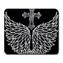Bling Wings And Cross Large Mouse Pad (rectangle)