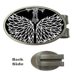 Bling Wings and Cross Money Clip (Oval)