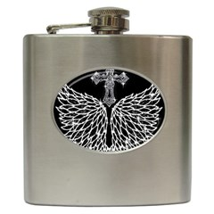 Bling Wings and Cross Hip Flask