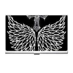 Bling Wings And Cross Business Card Holder