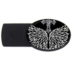Bling Wings and Cross 2Gb USB Flash Drive (Oval)