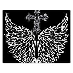 Bling Wings and Cross Jigsaw Puzzle (Rectangle)