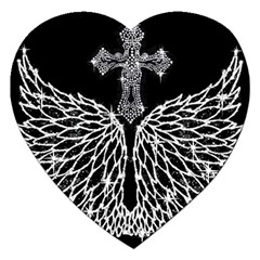 Bling Wings And Cross Jigsaw Puzzle (heart)