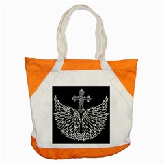 Bling Wings and Cross Snap Tote Bag