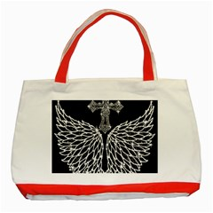 Bling Wings and Cross Red Tote Bag