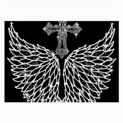 Bling Wings and Cross Single-sided Handkerchief