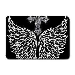 Bling Wings and Cross Small Door Mat