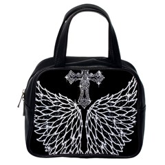 Bling Wings and Cross Single-sided Satchel Handbag
