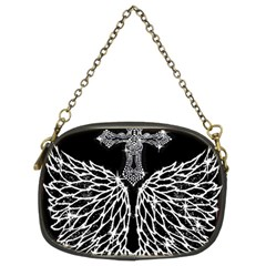 Bling Wings and Cross Twin-sided Evening Purse