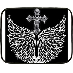 Bling Wings And Cross Twin Sided Mini Fleece Blanket