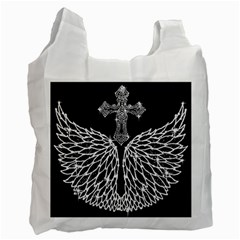 Bling Wings and Cross Twin-sided Reusable Shopping Bag