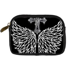 Bling Wings And Cross Compact Camera Case