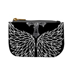 Bling Wings and Cross Coin Change Purse