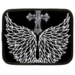 Bling Wings and Cross 13  Netbook Case