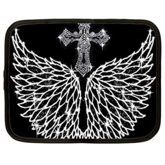 Bling Wings and Cross 15  Netbook Case