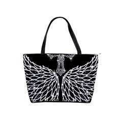Bling Wings and Cross Large Shoulder Bag