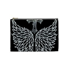 Bling Wings and Cross Medium Makeup Purse