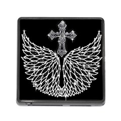 Bling Wings And Cross Card Reader With Storage (square)
