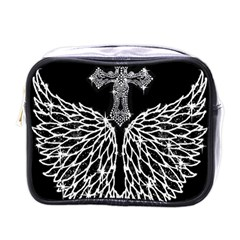 Bling Wings and Cross Single-sided Cosmetic Case