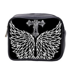 Bling Wings And Cross Twin Sided Cosmetic Case