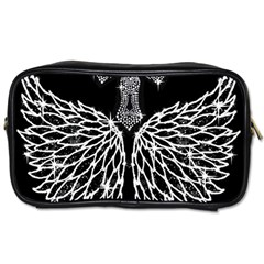 Bling Wings and Cross Single-sided Personal Care Bag