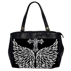 Bling Wings and Cross Twin-sided Oversized Handbag