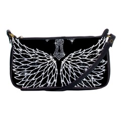 Bling Wings and Cross Evening Bag